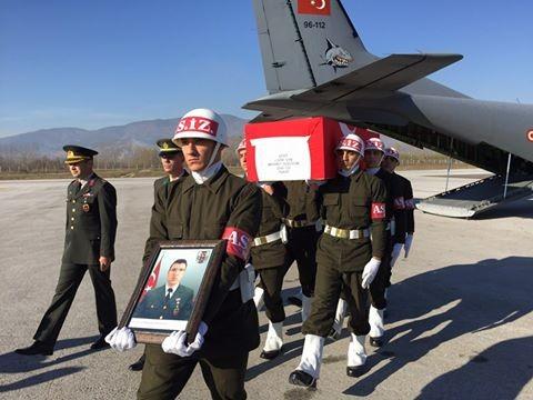 Şehit Uzman Çavuş Mehmet Gözüdok'un Naaşı Tokat'a Getirildi.