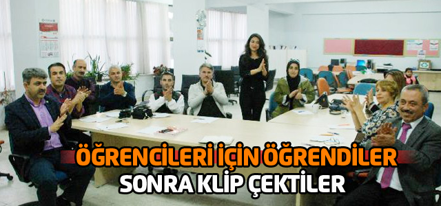 İşaret dili öğrenen öğretmenler klip çekti