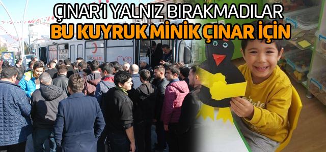 Lösemi hastası Çınar'a donör olmak için kuyruk oluşturdular