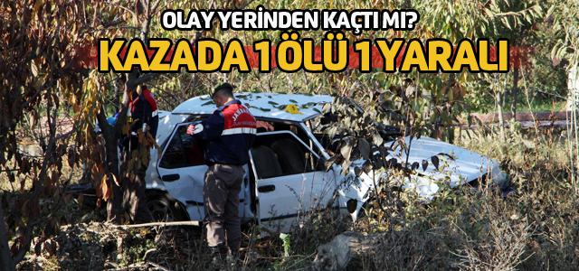 Tokat'ta gece meydana gelen kaza sabah fark edildi: 1 ölü, 1 yaralı