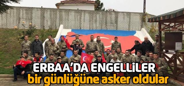 Engelli öğrenciler jandarmada askerlik heyecanı yaşadı
