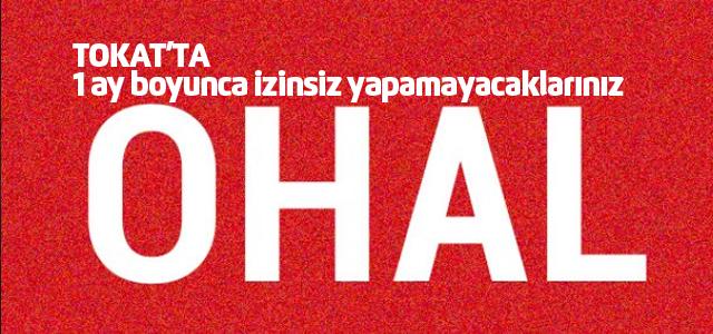Tokat'ta OHAL yasağı