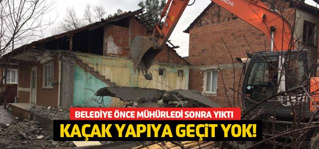 Erbaa'da kaçak yapıya geçit yok!