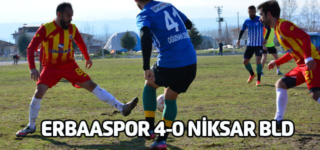 Erbaaspor Niksar Belediyespor'u 4-0 mağlup etti