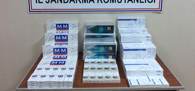 İran plakalı otobüsten 820 paket kaçak sigara çıktı
