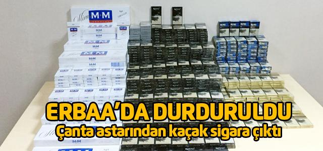 Çanta astarlarından bin 213 paket kaçak sigara çıktı