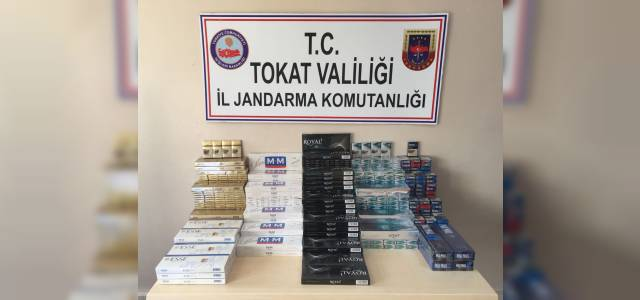 Çay ve şeker poşetlerinin içine gizlenmiş kaçak sigara ele geçirildi