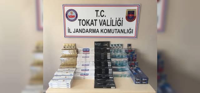 Erbaa'da Kaçak sigara satan işyerlerine operasyon