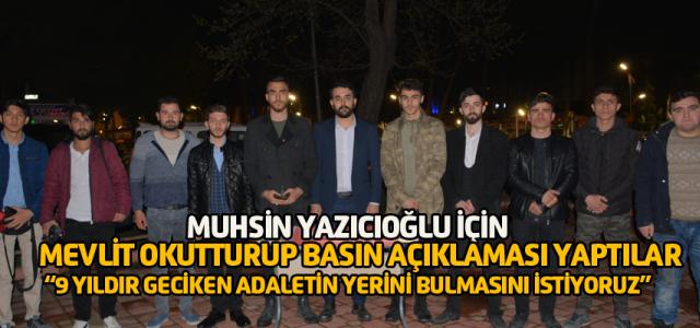 Erbaa'da Üniversite öğrencilerinden Muhsin Yazıcıoğlu için mevlit
