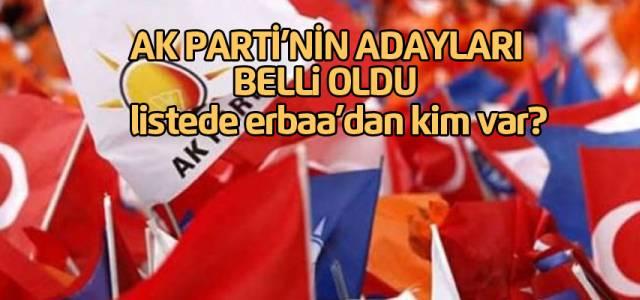 AK Parti'nin Tokat Milletvekili aday listesi belli oldu