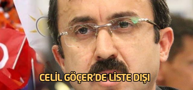 Celil Göçer'de liste dışı kaldı