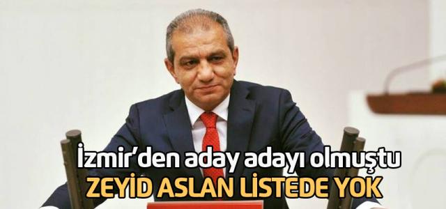 İzmir'den aday adayı olan Zeyid Aslan listeye giremedi
