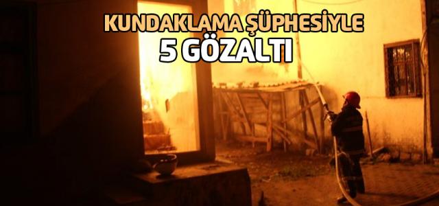 Tokat'ta korkutan yangın: 5 gözaltı