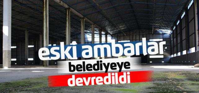 Erbaa'da eski tekel ambarları belediyeye devredildi