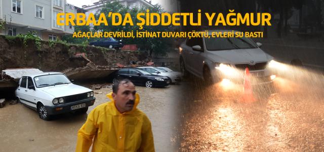 Erbaa'da korkunç fırtına