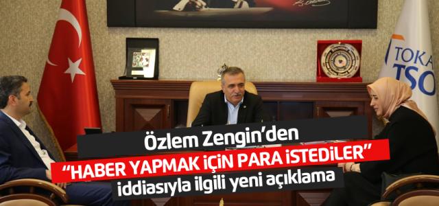Özlem Zengin'den para istediler iddiasına ilişkin yeni açıklama