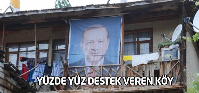 Tokat'ta, Cumhurbaşkanı Erdoğan'a yüzde 100 destek veren köyde sevinç yaşanıyor