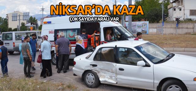 Niksar'da trafik kazası: 5 yaralı