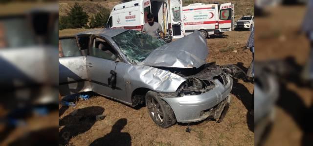 Tokat'ta bayram dönüşü kaza: 5 yaralı