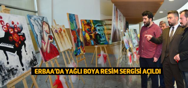 Erbaa'da yağlı boya resim sergisi açıldı