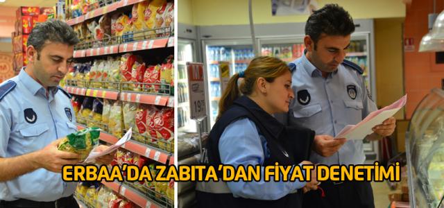 Erbaa'da zabıta ekiplerinden fiyat denetimi