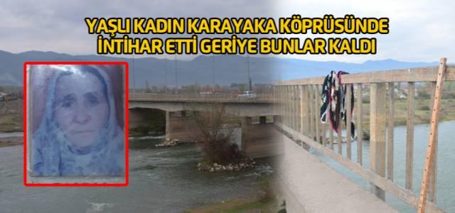 Erbaa'da yaşlı kadın köprüden atlayarak intihar etti