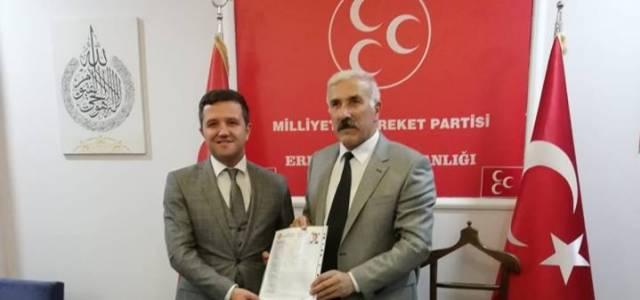 Erbaa MHP'den ilk aday adaylığı başvurusunu Emin Akbulut yaptı