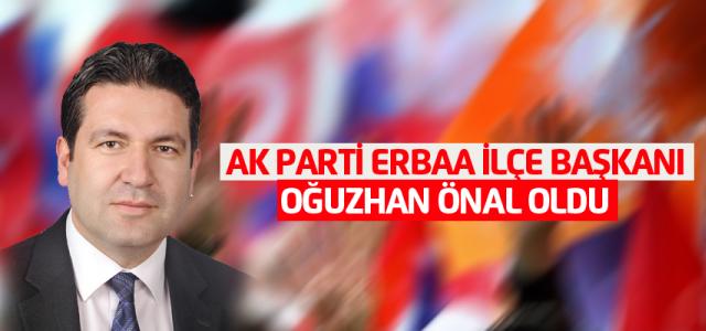 AK Parti Erbaa ilçe Başkanı Oğuzhan Önal oldu