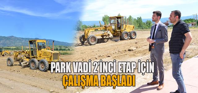 Erbaa'da Park Vadi 2'nci etap çalışmaları başladı