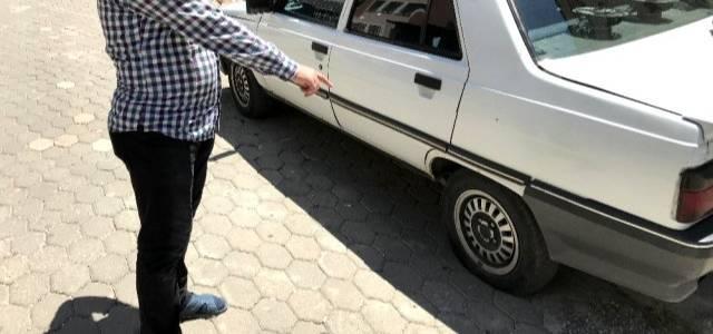 Tokat'ta park halindeki araçların lastiklerinin kesilmesi