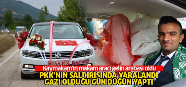 Erbaalı Gazi, yaralandığı ogünün 4'üncü yıl dönümünde düğününü yaptı