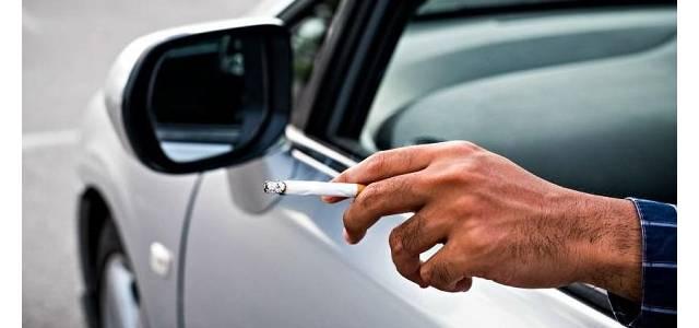 Araç içerisinde sigara içenlere ceza