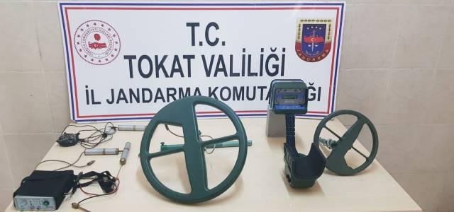 Erbaa'da defineci operasyonu