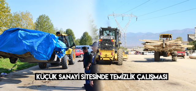 Erbaa Belediyesi Küçük Sanayi Sitesinde temizlik çalışması başlattı