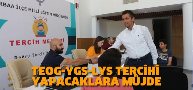 Erbaa İlçe Milli Eğitim Müdürlüğü TEOG, YGS ve LYS tercih merkezi kurdu