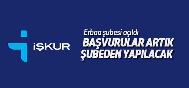 Erbaa İŞKUR Şube Müdürlüğü Açıldı