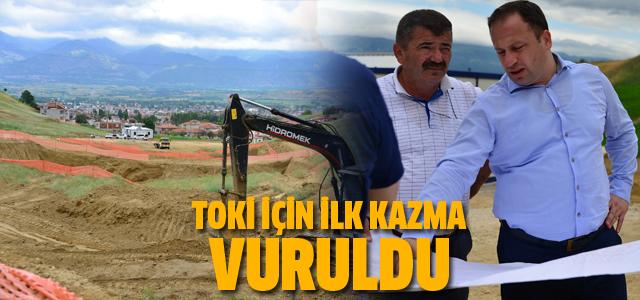 Erbaa'da yapılacak 224 TOKİ konutun inşasına başlandı