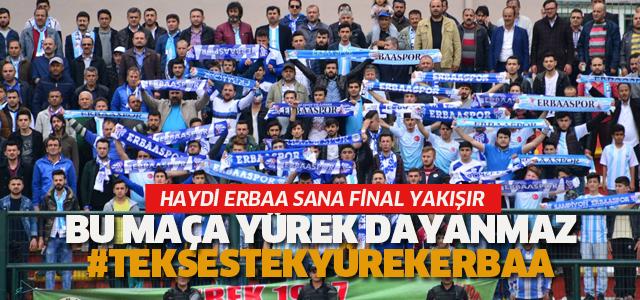 Erbaa'da yarı final heyecanı