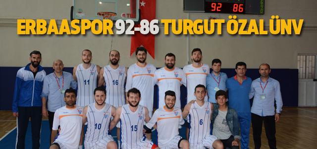 Erbaaspor 92-86 Turgut Özal Üniversitesi