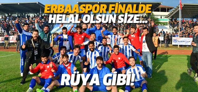 Erbaaspor Finalde