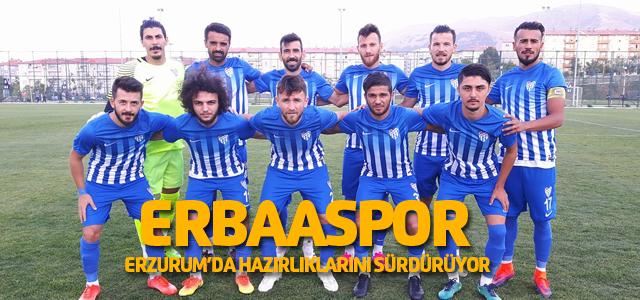 Erbaaspor'un Erzurum kampı sürüyor