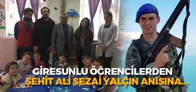 Giresun Üniversitesi öğrencileri Şehit Ali Sezai Yalçın'ı unutmadı