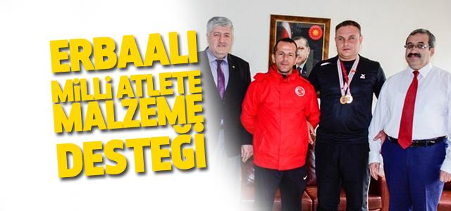 Görme Engelli Türkiye Şampiyonu Milli Atlete Malzeme Desteği