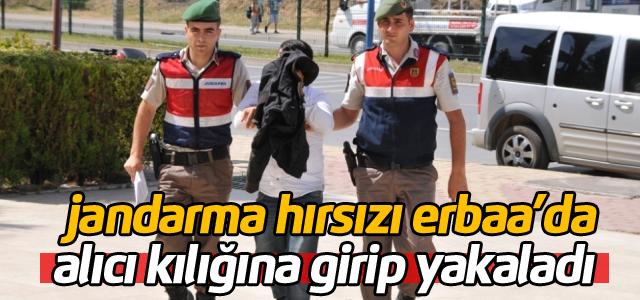 Jandarma alıcı kılığına girerek Erbaa'daki motosiklet hırsızını yakaladı