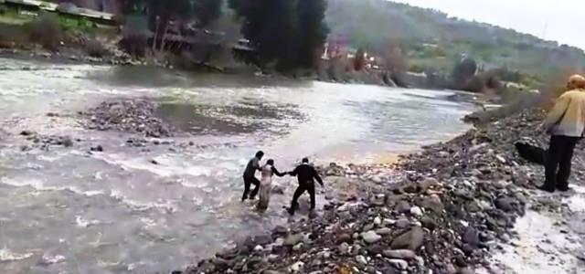 Kelkit Çayı'na düşen genç kızı boğulmaktan vatandaş kurtardı