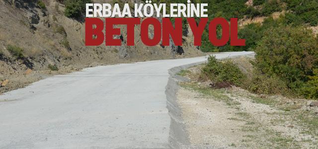 Köylere Beton Yol