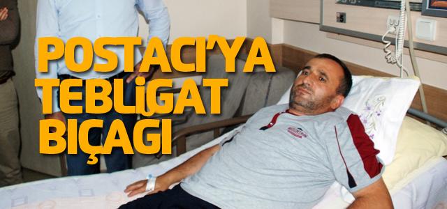 Mahkeme Tebligatı Götüren PTT Dağıtıcısı Bıçaklandı