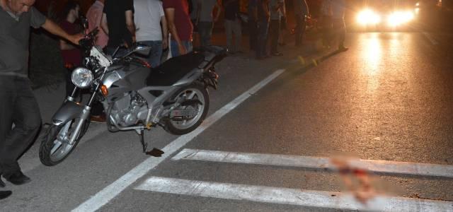 Motosikletin çarptığı yaşlı adam öldü