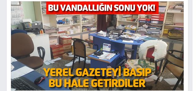 Niksar'daki o gazeteye çirkin saldırı