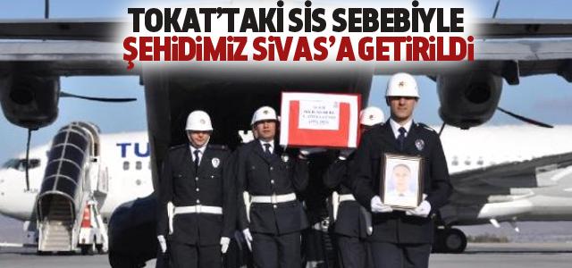 Şehidimizin Cenazesi Sivas'a Getirildi